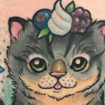 colorful cat tattoos feature