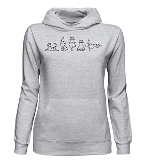 cat gray sweatshirt women
