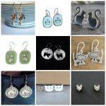 handmade sterling silver earrings cat lovers feature