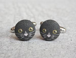 cat cufflinks