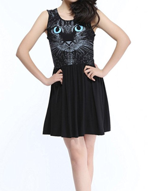 black cat dress women