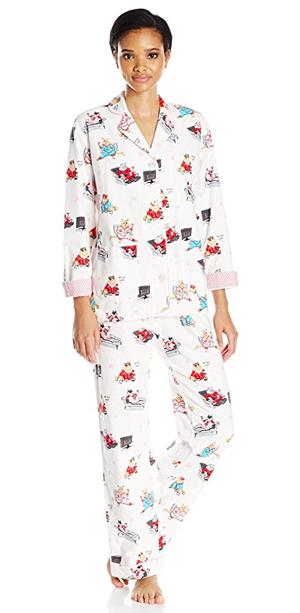flannel cat pajamas women