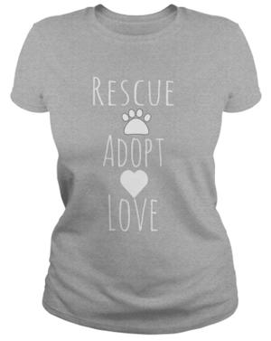 rescue cat tshirt tank top women