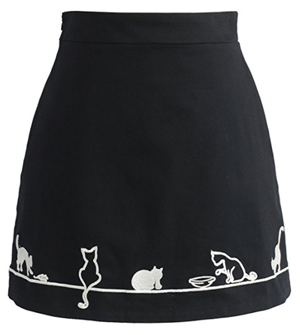 cat skirt women