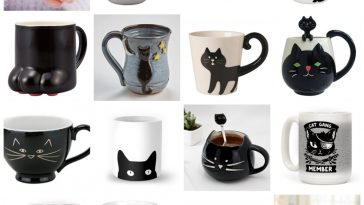 black cat mugs feature