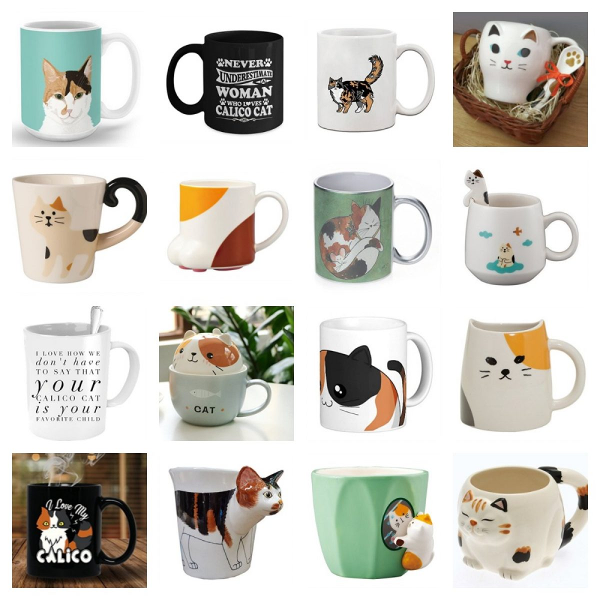 Marvelous Mugs For People Who Love Calico Cats Meow As Fluff