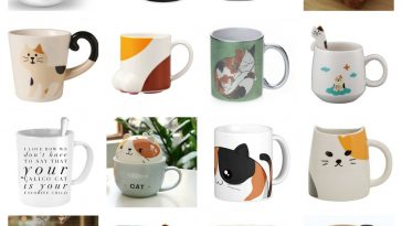 calico cat mugs feature