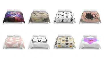 cat comforters feature