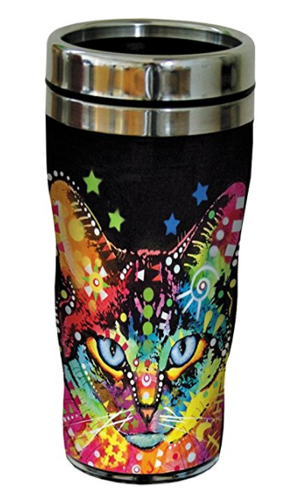 4ced4270653 Behind Blue Eyes Cat Travel Mug, Stainless Lined Coffee Tumbler, 16-Ounce –  Dean Russo – Gift for Kitten and Kitty Lovers