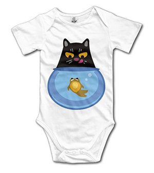 Infant 100/% Cotton Short Sleeve Bodysuits Romper Jumpsuit For Space Cats On Pizza