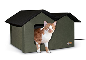 heated cat house feral outdoors