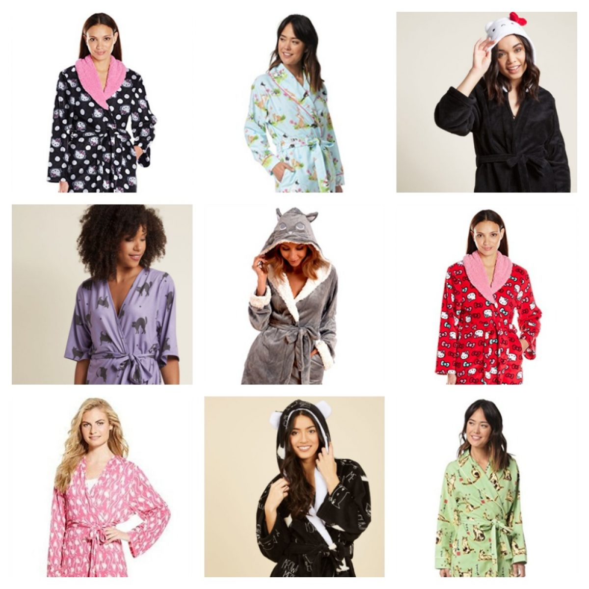 Comfy Cute Cat Robes For Women Meow As Fluff