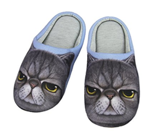 cat slippers women