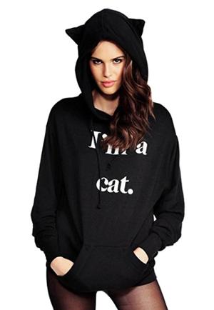 black cat sweatshirts hoodies pullovers women