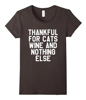 thanksgiving cat tshirts