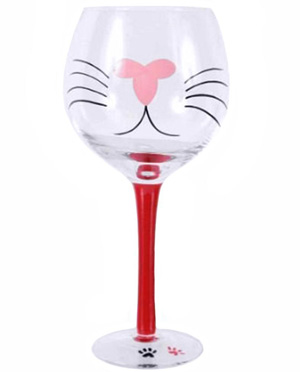 Kitty Wine Glasses For Cat Lovers Meow As Fluff