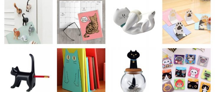 cat office supplies feature