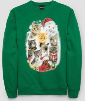 cat christmas sweatshirts men