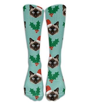 christmas cat socks women