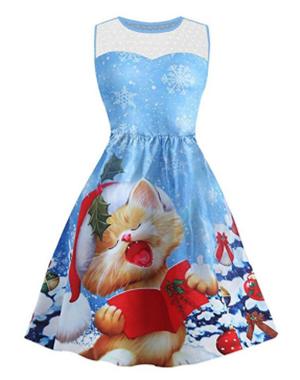 christmas cat dresss women