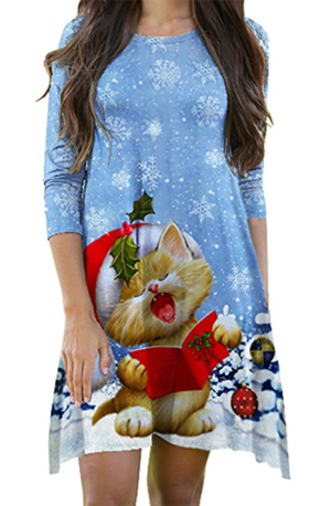 9d04ac639639 Christmas Cat Dresses For Women Who Love Kitties! – Meow As Fluff