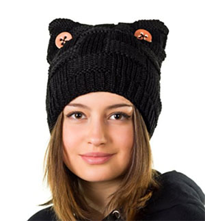 b4899648ebd Hats Cats Pink cat ears hat-Winter pussy cat hat-Warm Handmade Cat Beanie  lined with fleece