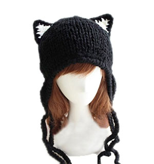 winter cat hat women