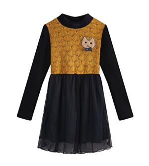 cute cat dress long sleeve girls toddlers