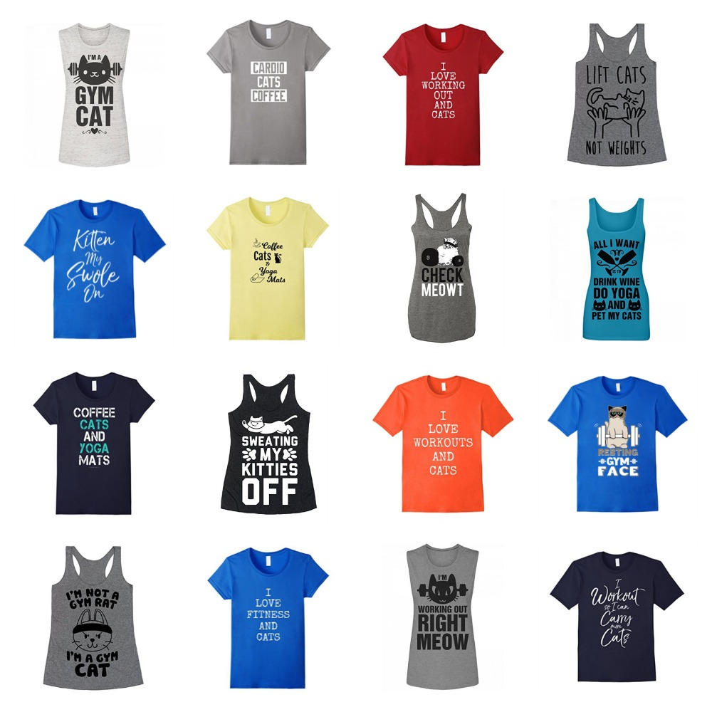 e48c767c9 Gym Tshirts & Tanks For Cat Lovers That Will Make You Want To Work Out! –  Meow As Fluff