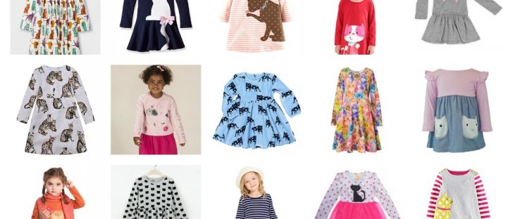 cat dresses long sleever girls toddlers feature