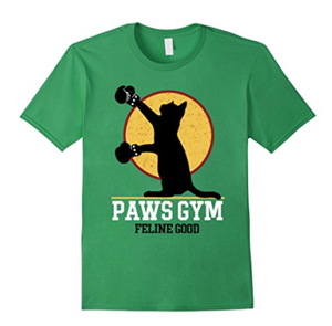 gym working out exercise cat tshirts tank tops