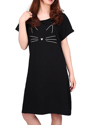 a21d7fdbf4 Cute Cat Nightshirts For Women Who Love Kitties! – Meow As Fluff