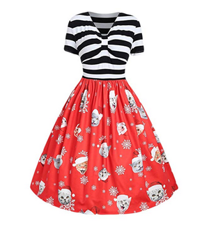 b4ad6bf0d2f3 Fun And Fashionable Christmas Cat Dresses For Women Who Love Kitties ...