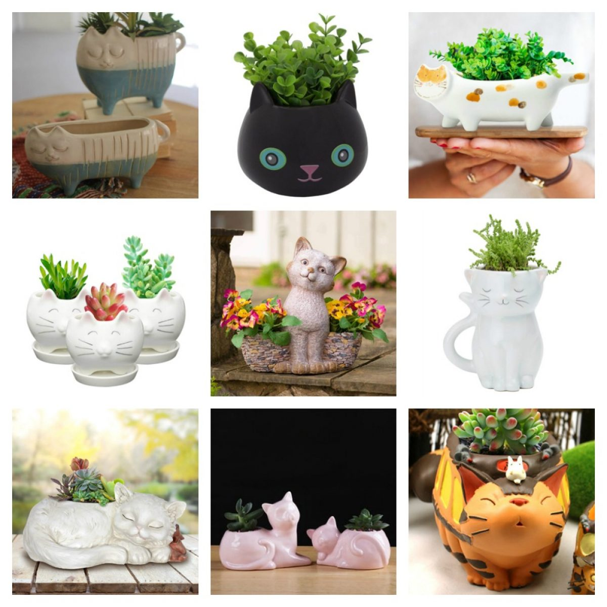 Cute Cat Planters And Plant Pots For People Who Love Kitties Meow As Fluff