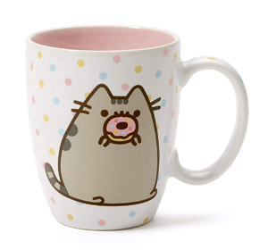 Enesco 6004622 Pusheen by Our Name is Mud Gold Pattern Coffee Mug 12 oz,