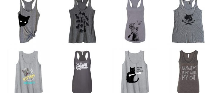 grey tank tops cats women feature