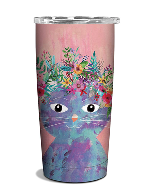 Travel Mugs And Cups For People Who Love Cats Meow As Fluff