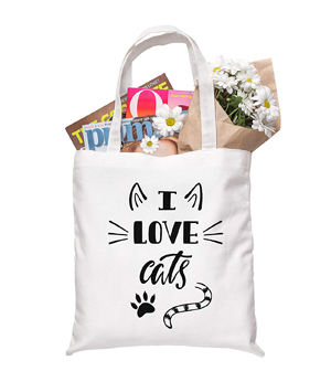 d2825a0813 ... Lovers Gift for Women – 100% Natural Cotton. cotton canvas cat tote bags