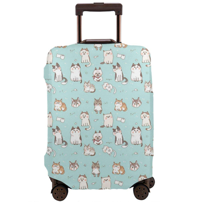 Baggage Covers Little White Flowers Pink Background Washable Protective Case