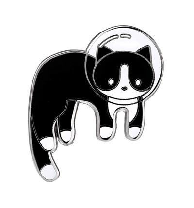 Charmart Black Cat Lapel Pin 2 Piece Set Kitten Enamel Brooch Pins Accessories Badge Gifts
