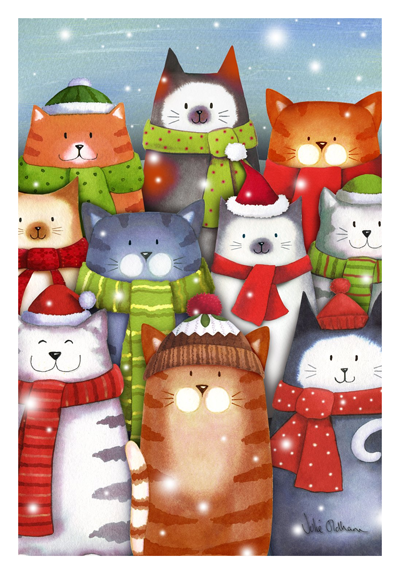 Cat Christmas Flags That Are Purrfect For People Who Love Kitties Meow As Fluff