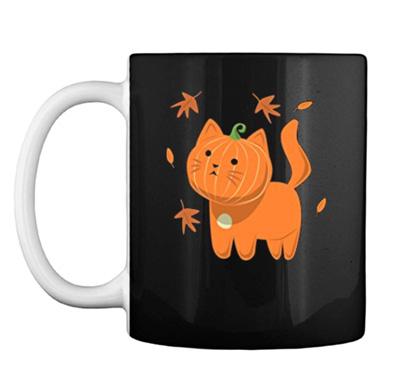 Funny Gift For Halloween Kitty Jack O Lantern Hallowen Cat Night Coffee Mug 11oz