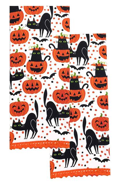 BLACK CAT COTTON KITCHEN DISH TOWEL