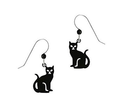 Fashion Jewelry Girls Cute Lovely Chic Black Cat Dangle Earrings For Women