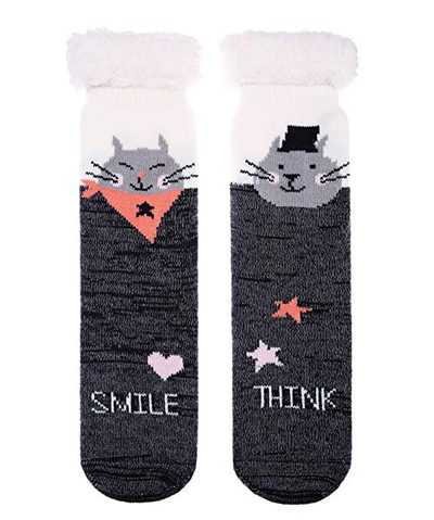 4 Pairs Ladies Thermal Slipper Socks Gripper Womens Winter Warm Soft UK4-7 New