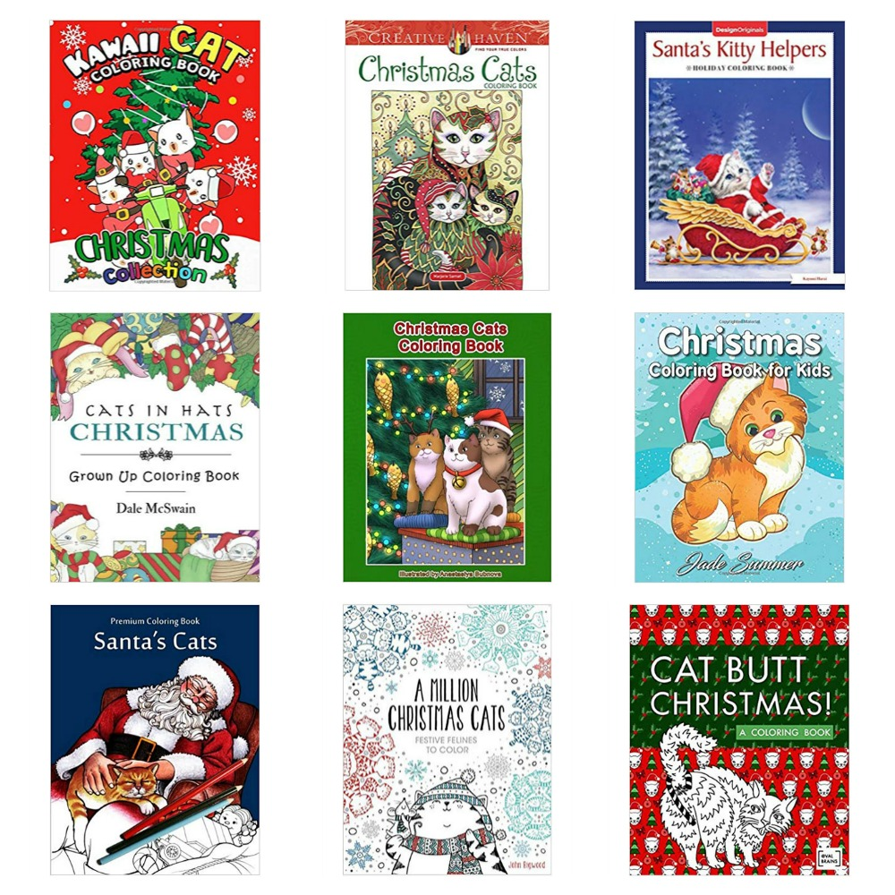 Christmas Coloring Books For Adults And Children Who Love Cats Meow As Fluff
