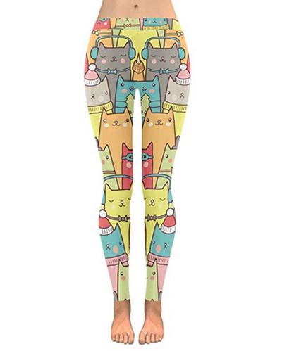 2XS-5XL Christmas Hat Skull Custom Stretchy Capri Leggings Skinny Pants for Yoga Running Pilates Gym