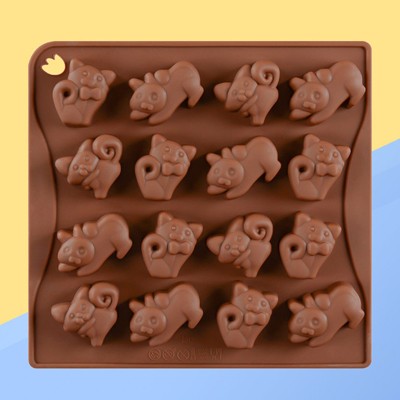 Cat Shaped Silicone Ice Cube Trays Set of 2 Ice Cubes Candy Chocolate Mold