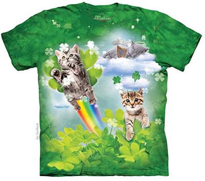 Patricks Cat Lovers Shirt Patricks Day T-shirt St Funny Black Cat Lucky Irish T-shirt St Tees for St Patricks Day Cute Cat Shirts Gift