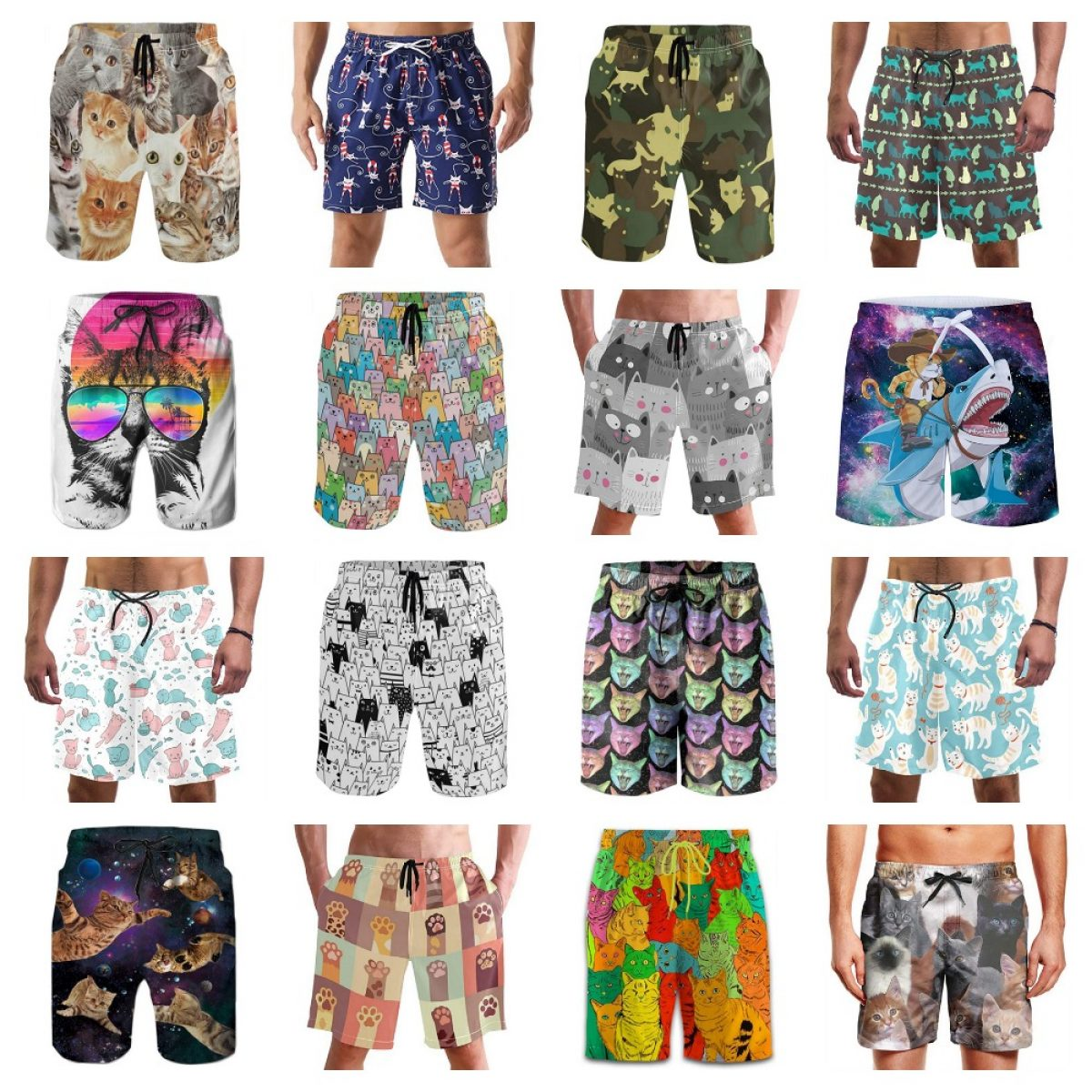 Whimsical Christmas Swim Trunks Quick Dry Beach Board Home Water Sports Mens Shorts